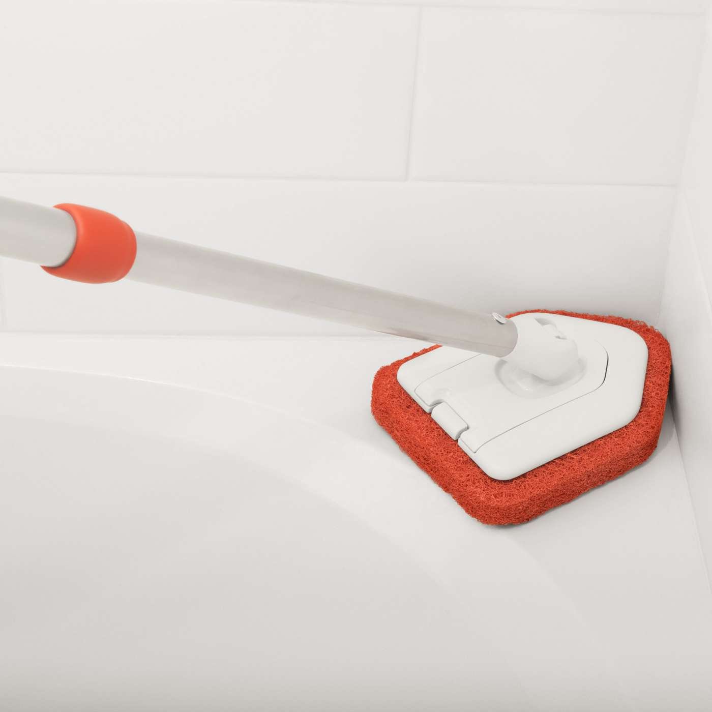 Extendable Tub Amp Tile Scrubber