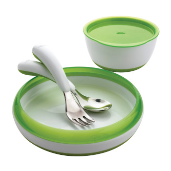 4pc Toddler Feeding Set - Green