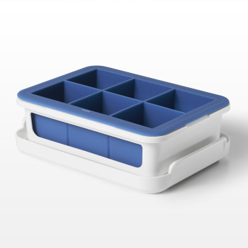 Covered Silicone Ice Cube Tray-Large Cubes