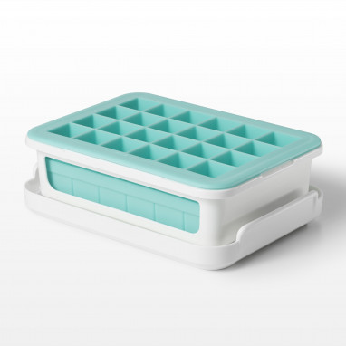 Covered Silicone Ice Cube Tray-Cocktail Cubes