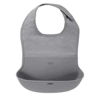 Roll Up Bib - Grey