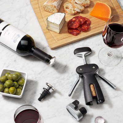 OXO Steel Winged Corkscrew With Removable Foil Cutter